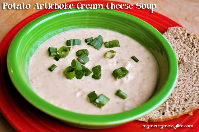 Potato and Artichoke Cream Cheese Soup