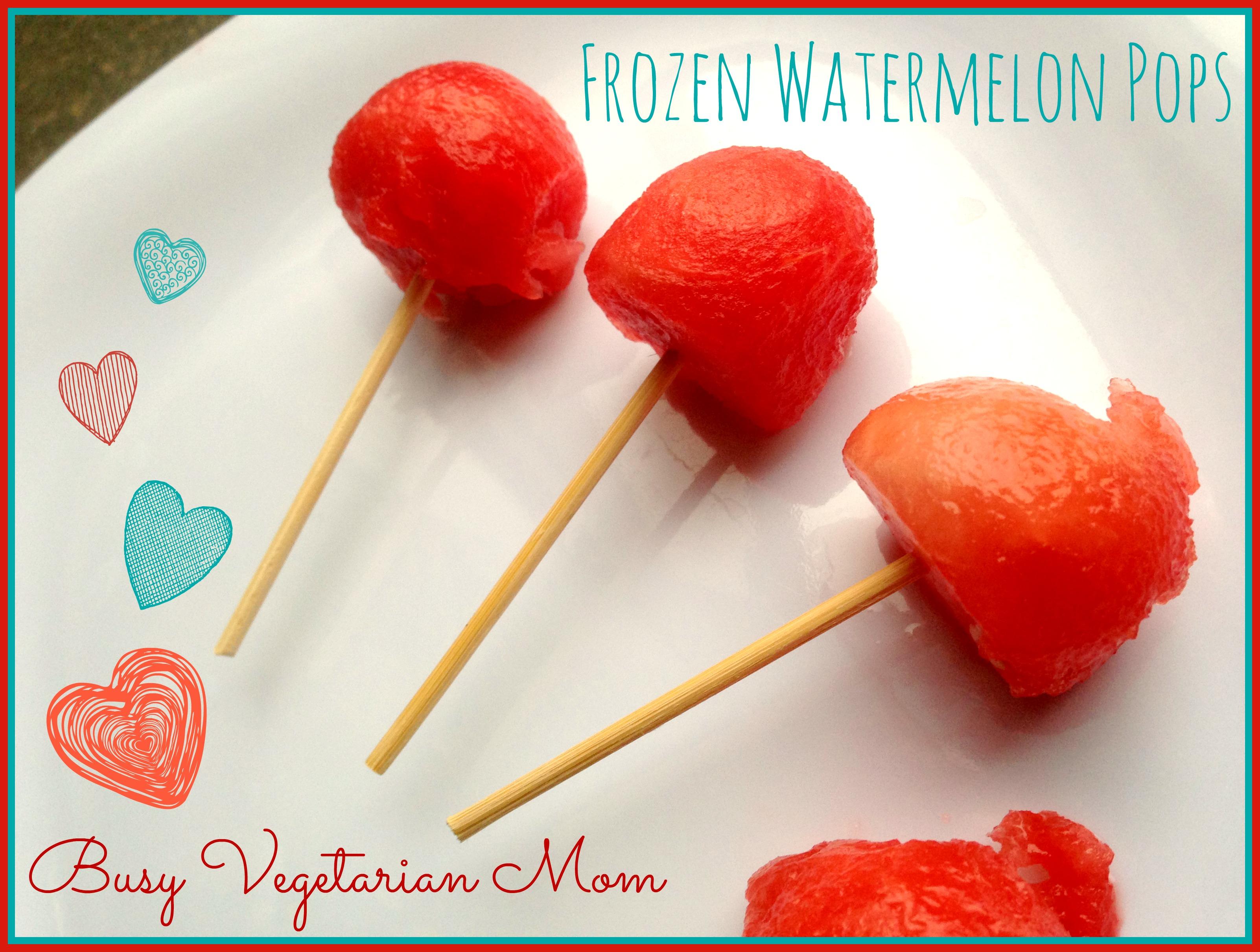 frozen watermelon pops simply skewer and freeze fruits like watermelon ...