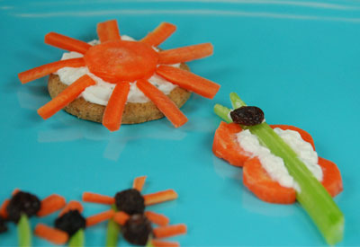 Healthy Snacks - Fun with Veggies