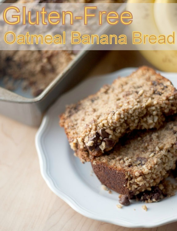Gluten-Free Oatmeal Banana Bread with Chocolate Chips